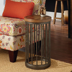 Reading Nooks | Smart Furniture - The Boardwalk Round End Table is versatile as it is decorative. Add it to your home for utility and ambiance.