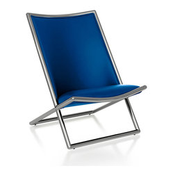 Geiger - Scissor Chair - Wanna bring the beach home with you? This heavenly scissor chair is a high-end crossbreed of the classic beach chair and cushy pillows. Once you sit down, you'll never want to get up.
