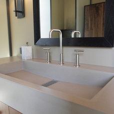Bathroom Sinks by Concreteworks