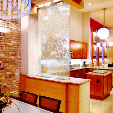 Translucence Series Waterfall - While it may be a dream house feature for most, a built-in architectural waterfall also has its practical qualities. In addition to serving as a decorative panel, it can make a stunning partition, creating separate rooms in an open space. And a little hypnotic serenity may just be worth the splurge alone!