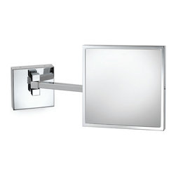 Electric Mirror - EMHL88 Makeup Mirror - Wall mounted LED make-up mirror available in polished chrome finish. Features 5X magnification and adjustable double arm. 2 watt LED module included. 8W x 8H.