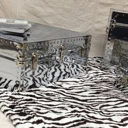 Squared Coffee Table set - Chrome -