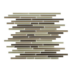Baja Fine Lines Random Strip Glass Mosaic Tiles