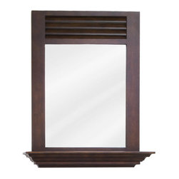 Elements - Elements MIR078 Lindley Collection Rectangular 25-1/2 x 30 Inch Bathroom Vanity - This fashionable vanity mirror from Element's Lindley Collection features a rectangular, portrait-hung design that's perfect for complementing a variety of bathroom decor. Boasting elegant craftwork and gorgeous beveled glass, this mirror is the ideal choice for completing any bathroom makeover.Vanity Mirror: Designed to accompany the Elements vanity VAN078. This mirror looks great as either part of a vanity set, or as a standalone accessory. Features: