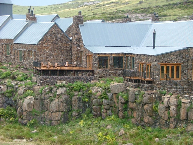 High mountain lodge