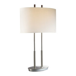 Essential Lighting for the Home Office - No matter what your style is this basic yet modern table lamp is perfect for a little illumination.