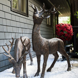 PRODUCTS | Outdoor Christmas Decorations - Balsam Hill Life-sized Outdoor Deer