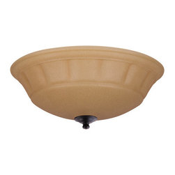 Emerson - Emerson LK140BQ Grande Amber Scavo Light Fixture - Compatible with Fans: N/A
