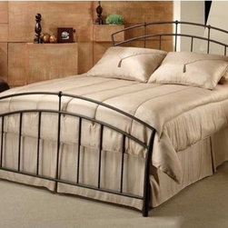 Hillsdale - Vancouver Metal Bed - The Vancouver Bed has a perfect rainbow shaped arch at the headboard and footboard. The bars are beautifully crafted with a rope wire detail. The Vancouver Bed has an antique brown finish which combines brilliantly with modern craftsmanship and old world charm. Features: -Rope wire detail.-Fully welded construction.-Antique brown finish.-Recommended care: Dust frequently using a clean, specially treated dusting cloth that will attract and hold dust particles. Do not use liquid or abrasive cleaners as they may damage the finish..-Distressed: No.-Collection: Vancouver.Dimensions: -Overall Product Weight: 88.5 lbs. About the Manufacturer: About Hillsdale House Furniture Located in Louisville, KY, Hillsdale House Furniture has produced an enormously popular collection of bedroom and accent furniture. Hillsdale House items are constructed of quality materials and offered at an affordable price. We are an authorized dealer of the full line of Hillsdale House furniture; if you can''t find a specific Hillsdale piece, give us a call!