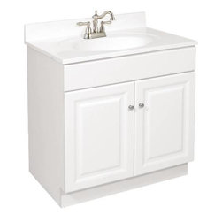 NATIONAL BRAND ALTERNATIVE - Wyndham Two Doors Vanity - Features: