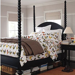 Clarke Poster Bed - A mix of traditional and modern, this 4-poster bed is a beautiful addition to any bedroom.