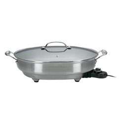 "Cuisinart - Cuisinart Non-Stick Oval Electric 12"" x 15"" Skillet - 1500 watts of power and 12"" x 15"" round cooking surface"