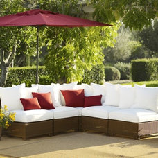 Build Your Own - Palmetto All-Weather Wicker Sectional Components - Honey