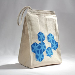Lunch Bag, Recycled Cotton Geometric Hexagon Pattern by LEFTright - I see adorable lunch bags like this and wish I had a place to bring my lunch every day!
