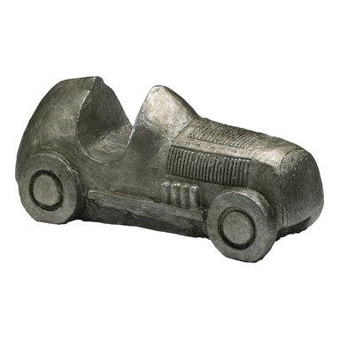 Cyan Design - Cyan Design Automobile Game Board Piece Sculpture X-50910 - The charming game piece inspired look of this Cyan Design sculpture helps to give it a whimsical feel. This automobile board game sculpture features a vintage, early 1900s inspired vehicle design. It is done in a larger size and features cast iron and Pewter finishing.