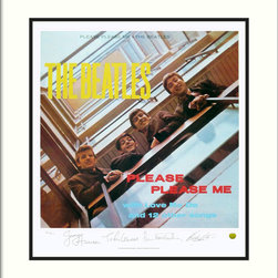 Amanti Art - The Beatles: Please Please Me (Album Cover) Framed Print - Got Beatlemania? You can celebrate the Beatles' sweeping music catalog with this limited-edition, hand-numbered print, bearing the stamped signatures of each band member. Custom framed by designers, with hand-selected frame and mat selections that enhance the artwork, this print comes with a hanging wire for easy installation in your home. Made in the USA.