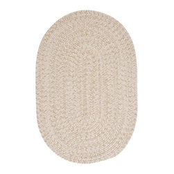 Colonial Mills - Colonial Mills Tremont TE09 Natural Rug TE09R048X048 4x4 - This round braided rug makes you just want to cozy up in front of the fire. The wool blend yarns create a textured softness and the natural color scheme coordinates with any decor.
