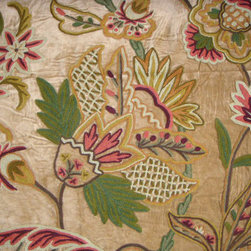 Crewel Fabric World by MDS - Crewel Fabric Flora Chocolate Brown Cotton Velvet - Inspiration: Floral is a pattern inspired by the flowers of spring