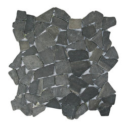 """Pebble Tile Shop - Grey Mosaic Tile - Each pebble is carefully selected and hand-sorted according to color, size and shape in order to ensure the highest quality pebble tile available.  The stones are attached to a sturdy mesh backing using non-toxic, environmentally safe glue.  Because of the unique pattern in which our tile is created they fit together seamlessly when installed so you cant tell where one tile ends and the next begins!    Usage:      Shower floor, bathroom floor, general flooring, backsplashes, swimming pools, patios, fireplaces and more.  Interior & exterior. Commercial & residential.    Details:      Sheet Backing: Mesh      Sheet Dimensions: 12\ x 12\""""      Pebble size: Approx 3/4\"""" to 2 1/2\""""      Thickness: Approx 1/2\""""      Finish: Gray Natural"""""""