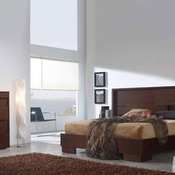 Made in Spain Wood High End Bedroom Furniture Sets with Extra Storage - Spain made orba bedroom set in wenge color. This Bedroom Set is manufactured in contemporary style.