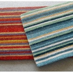 Geo Crafts Creel Stripe Mat Large - About Geo CraftsGeo Crafts Inc. is a major supplier of various floor coverings who considers themselves the pioneers of the personalized doormat which they brought to the US market in the early 1990's. They were founded at the turn of the century in India, with roots going back to the Indian Emporium and V.O. Vakkan and Sons of Cochin, India. They now run their distribution center from Northeast Pennsylvania and run a showroom in the heart of New York City, across the street from the iconic Empire State building. The vision they had almost a century ago to create quality goods, timely deliveries, sincere service, and competitive pricing is the same vision they work toward today.