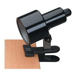 Lite Source - Lite Source, Inc. Clip-On Clamp-On Lamp, Black - Lite Source, Inc. CLIP-ON CLAMP-ON LAMP Clip-on clamp-on lamp with metal body and incandescent light. Imported.Product Measures: 3.5 x 3.5 x 7Dimensions: 13.5″ x 7.25″ x 12.75″.