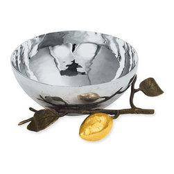 Michael Aram 'Lemonwood' Nut Bowl - Liquid-shine stainless steel dish rests on a striking lemon branch. Color(s): stainless steel. Brand: MICHAEL ARAM. Style Name: Michael Aram 'Lemonwood' Nut Bowl. Style Number: 306916. Available In Stores.