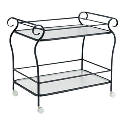 Woodard - Ramsgate Strap Tea Cart w Obscure Glass Shelves (Hammered Pewter) - Finish: Hammered Pewter. Aluminum frame. 42 in. L x 26 in. W x 34.5 in. H. All products are made to order. Orders cannot be cancelled after 5 calendar days. If order is cancelled after 5 calendar days, a 50% restocking fee will be applied.