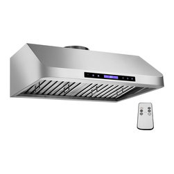 GOLDEN VANTAGE - GV 30-Inch Stainless Steel Under Cabinet Range Hood W/Baffle Filter And Cleaner - Our Contemporary Europe design range hoods capture the most pollutants, grease,   fumes, cooking odors in a quiet way but maintain a strong CFM From 300-900 depends on the style or model you choose. GV products not only provide top notch quality of material, we also offer led lighting, quite chamber blower,adjustable telescopic chimney. All of our range hoods can convert to ventless/ductless options if outside exhaust not permitted.