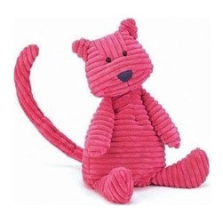 """Cordy Roy Pink Cat 15"""" - An adorable hot pink jelly cat plush that my baby loves to snuggle with."""