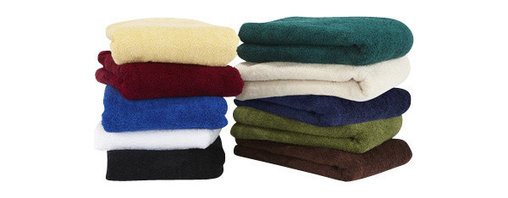 Towels By G.U.S. - Hotel Collection Cotton Bath Towel, White, Bath Towel - Wrap yourself in comfort with our Hotel Collection Bath Cotton Towel. These hotel style, 100% cotton towels are made in the good ol' USA, so you can feel good about your purchase. With a bevy of hues to choose from in a dramatic color palette, you are sure to find the perfect match to your bathroom. These towels are made with a sturdy single hem border and woven with medium length relaxed loop technology for maximum drying power.