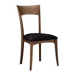 Copeland Furniture - Ingrid Chair by Copeland Furniture - The Copeland Furniture Ingrid Chair is a welcome and comfortable addition around any dining table. It features an open, gently curving frame made out of solid American black walnut or cherry hardwood. The overall look--and feel--of the chair is softened even further by the leather or microsuede upholstered seat. Founded in 1976 by Tim Copeland, Copeland Furniture specializes in the production of fine natural hardwood furniture. Continual evolution in Copeland Furniture designs have yielded new and exciting takes on classic Arts & Crafts, Shaker and Scandinavian bedroom, living room, office and dining room furniture. All Copeland Furniture pieces are designed and made at their manufacturing facility located on the banks of the Connecticut River in Bradford, Vermont.