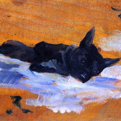 "Henri De Toulouse-Lautrec LIttle Dog - 16"" x 24"" Premium Archival Print - 16"" x 24"" Henri De Toulouse-Lautrec LIttle Dog premium archival print reproduced to meet museum quality standards. Our museum quality archival prints are produced using high-precision print technology for a more accurate reproduction printed on high quality, heavyweight matte presentation paper with fade-resistant, archival inks. Our progressive business model allows us to offer works of art to you at the best wholesale pricing, significantly less than art gallery prices, affordable to all. This line of artwork is produced with extra white border space (if you choose to have it framed, for your framer to work with to frame properly or utilize a larger mat and/or frame).  We present a comprehensive collection of exceptional art reproductions byHenri De Toulouse-Lautrec."