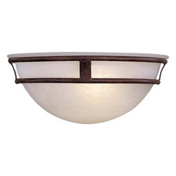 "Minka Lavery - Minka Lavery 841-91 Antique Bronze Pacifica Transitional Wall Washer - New transitional wall sconce to fill the void between classic and contemporary. Etched marble glass Fixture extends 6"" from wall Requires 1 medium base lamp, 100w max (not included)"