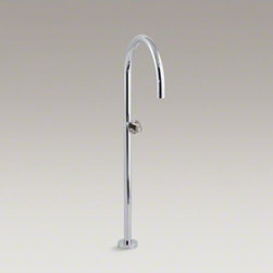 "KOHLER - KOHLER 37"" floor-mount bath filler - Add sleek, minimalist style to your bathroom with this floor-mount bath filler. Ideal for Fountainhead(TM), Underscore(R), and sok(R) baths, the filler features a 37-inch tall spout that arches elegantly into the bathtub. This spout has been outfitted wit"