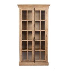 Zentique - Zentique Two Door Oak Cabinet in Limed Grey Oak - Two door oak cabinet in limed grey oak by Zentique.