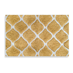 Colordrift Morocco Gold Bath Rug - I like the design of this rug. It's simple enough, but I also like that it adds a touch of elegance.
