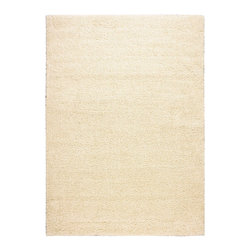 "Nourison - Nourison Amore AMOR1 7'10"" x 10'10"" Cream Area Rug 15042 - A shag rug is always striking but when revealed in always-perfect ivory, its chic quotient is elevated to the nth degree. Lushly textured with a faux-fur-like fabrication and expertly crafted to stand the test of time, this fantastic rug is utterly fabulous in its look and feel."