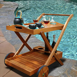 Hana Eucalyptus Wood Serving Cart