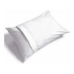 Hudson Industries - AllergyFree Pillow Covers/Pair (Stnd) - A pair of allergen barrier zipper covers for your standard sized pillows prevents mold, mildew, bacteria & dust mites. Easy care wash & dry gentle cycles. Protect your own pillow investment for adults & children. Made of Ultra-Fresh treated woven polycotton. . 30 Day Manufacturer's Warranty. 20 in. L x 30 in. W (1 lbs)