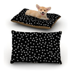 "Kess InHouse - Sky Zambrana ""Watercolor Dots"" Black Fleece Dog Bed (18"" x 28"") - Pets deserve to be as comfortable as their humans! These dog beds not only give your pet the utmost comfort with their fleece cozy top but they match your house and decor! Kess Inhouse gives your pet some style by adding vivaciously artistic work onto their favorite place to lay, their bed! What's the best part? These are totally machine washable, just unzip the cover and throw it in the washing machine!"