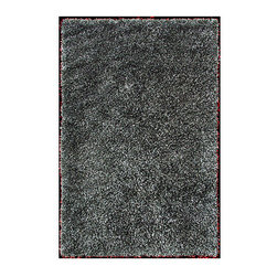 """Foreign Accents - Elementz Starburst Charcoal Rug - Why choose a Starburst rug from Foreign Accents' Elementz collection? Bursting with unexpected texture, Starburst rugs are rich and vibrant. Starburst rugs are hand-stitched using tied satin ribbon shags, each of which is hand-tied, woven and cut. This luxurious treatment of color gives these rugs special depth and luminosity. The metallic sheen blends easily with styles ranging from high-tech to polished metal to rustic wood. Features: -Material: Polyester.-Construction: Handmade.-Collection: Elementz.-Distressed: No.-Technique: Hand woven.-Primary Color: Charcoal .-Border Material: Polyester.-Type of Backing: Woven cotton backing.-Fringe: Yes.-Reversible: No.-Rug Pad Needed: Yes.-Water Repellent: No.-Mildew Resistant: Yes.-Stain Resistant: Yes.-Fade Resistant: Yes.-Swatch Available: Yes.-Eco-Friendly: No.-Recycled Content: 0%.-Outdoor Use: No.-Product Care: Spot clean with water and mild soap, then air dry. Can be washed in water at specialized carpet cleaners. Shake out as needed. For everyday cleaning, simply use a medium-power vacuum cleaner with a hard surface attachment, do not use a beate brush.Specifications: -CRI certified: No.-Goodweave certified: No.Dimensions: -Overall Product Weight (Rug Size: 3'7"""" x 5'5""""): 22 lbs.-Overall Product Weight (Rug Size: 5' x 7'3""""): 35 lbs.-Overall Product Weight (Rug Size: 7'5"""" x 9'6""""): 65 lbs.Warranty: -Warrantied against manufacturer's defect for one year from date of purchase."""