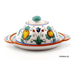 Artistica - Hand Made in Italy - Fruttina: Round Cheese Dish with Lid - Fruttina Collection