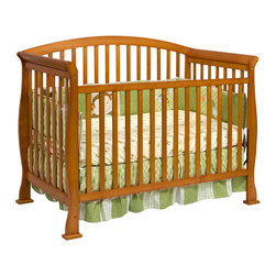 Da Vinci - Da Vinci Thompson 4-in-1 Convertible Wood Crib with Toddler Rail in Oak - Da Vinci - Cribs - M3201O - It's naptime in the Thompson. Engineered with DaVinci style the Thompson Convertible Crib gives baby years of safe dreams. In a few simple conversions your crib becomes a toddler bed or a daybed. With wooden bed rails it becomes a full-sized bed! With the Thompson you get it all. Complete your DaVinci nursery with any of the Parker case pieces.