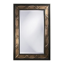 Howard Elliott - Howard Elliott 43070 Charles Bronze w/ Rust Highlights & Pewter Accents Mirror - Bronze w/ Rust Highlights & Pewter Accents Mirror belongs to Charles Collection by Howard Elliott This large oversized rectangular mirror features an interlaced scallop pattern finished in a bronze accented with pewter highlights and bordered in a black trim. Mirror (1)