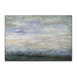 Grace Feyock - Grace Feyock Free Fall Canvas Wall Art / Wall Decor X-92223 - Serene, Soothing Colors Have Been Used In Creating This Hand Painted Artwork On Canvas With A Heavily Textured Finish. The Canvas Is Stretched And Attached To Wood Stretching Bars. Due To The Handcrafted Nature Of This Artwork, Each Piece May Have Subtle Differences.