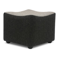Bryght - Italy Ottoman - The Italy is a stylish versatile addition to your living room space. Its soft, durable, feel-good fabric in dual shades of liquorice and coral adds class to this well designed furniture piece. Team this Italy ottoman with the Italy love-seat, armchair or sofa for the ideal contemporary look or use it to compliment any seating arrangement of your choice.