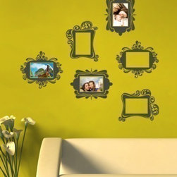Simple Shapes - Vintage Photo Frame Wall Decals - This is a very fun and unique solution to displaying photo's in you home!