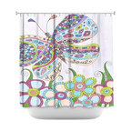 DiaNoche Designs - Shower Curtain Artistic - Beautiful Soul - DiaNoche Designs works with artists from around the world to bring unique, artistic products to decorate all aspects of your home.  Our designer Shower Curtains will be the talk of every guest to visit your bathroom!  Our Shower Curtains have Sewn reinforced holes for curtain rings, Shower Curtain Rings Not Included.  Dye Sublimation printing adheres the ink to the material for long life and durability. Machine Wash upon arrival for maximum softness. Made in USA.  Shower Curtain Rings Not Included.