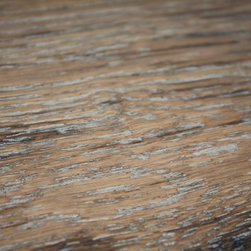"White Oak 5/8 x 7-1/2"" Weatherwood Distressed Engineered Hardwood Flooring -"
